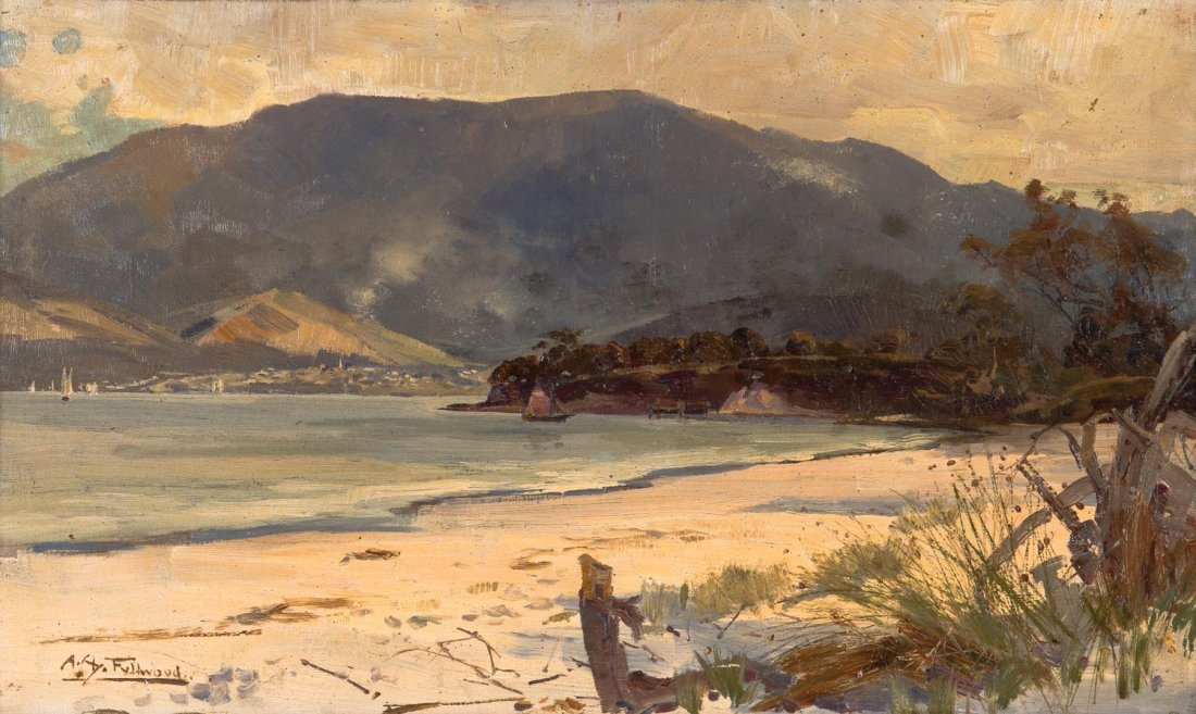 ALBERT HENRY FULLWOOD (1863-1930) View of Hobart from
