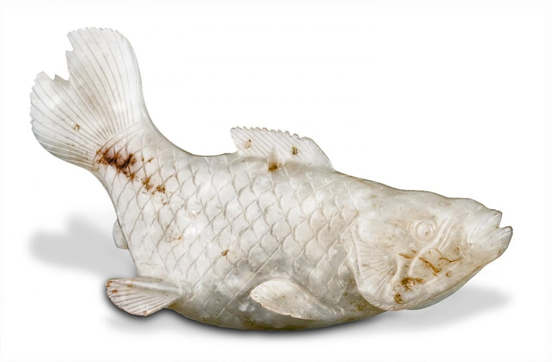 A white jade fish, Qing dynasty (1644-1911)