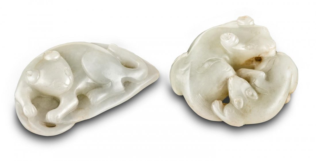 Two white jade carvings