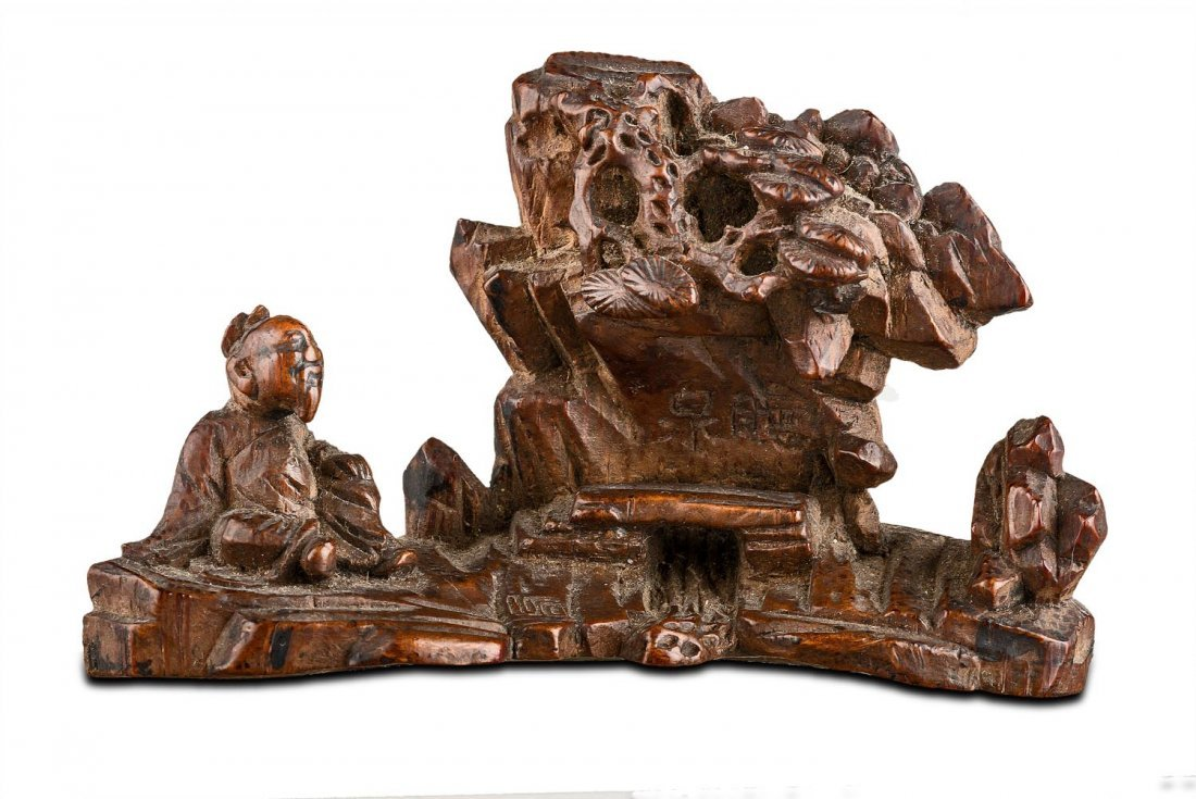 A Chinese bamboo brush rest, early Qing dynasty,