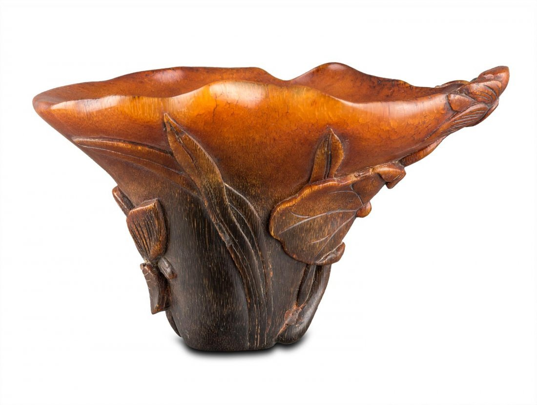 A small rhino horn cup, late Qing dynasty (1644-1911)