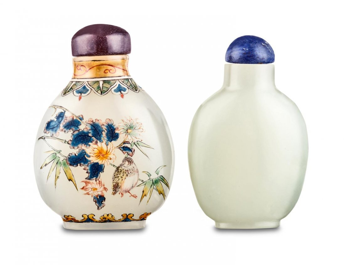 Two small snuff bottles , 20th Century