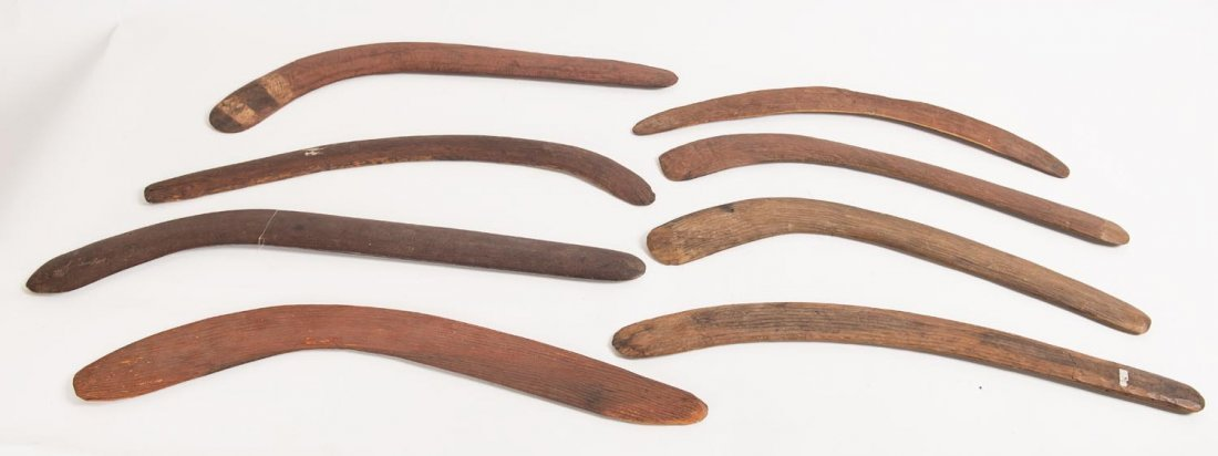 A group of 8 assorted boomerangs, Central Deserts.