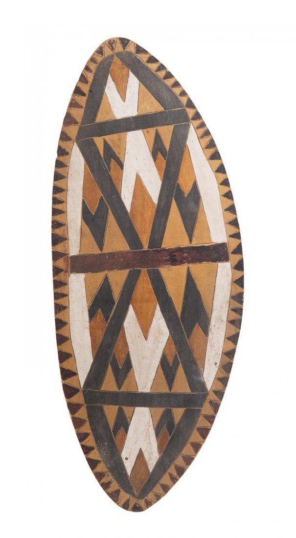 A shield, Queensland rainforest mission station origin,