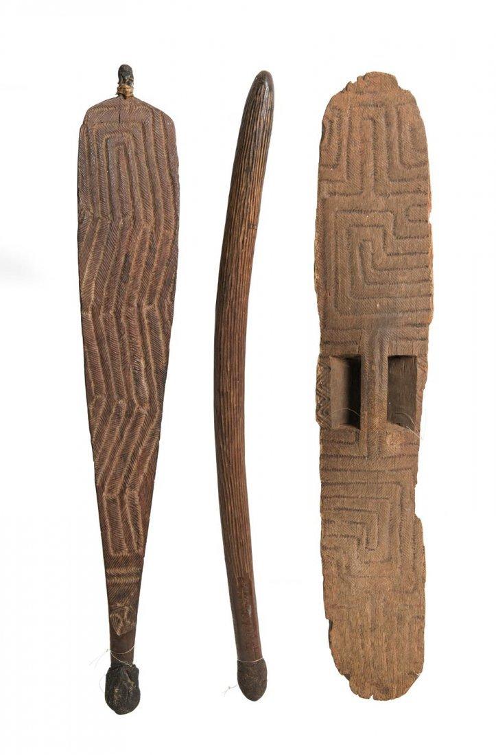 Three Western Australian artifact, including finely