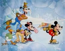 "Mickey Mouse ""Winter Wonderland"" Animation Cel"