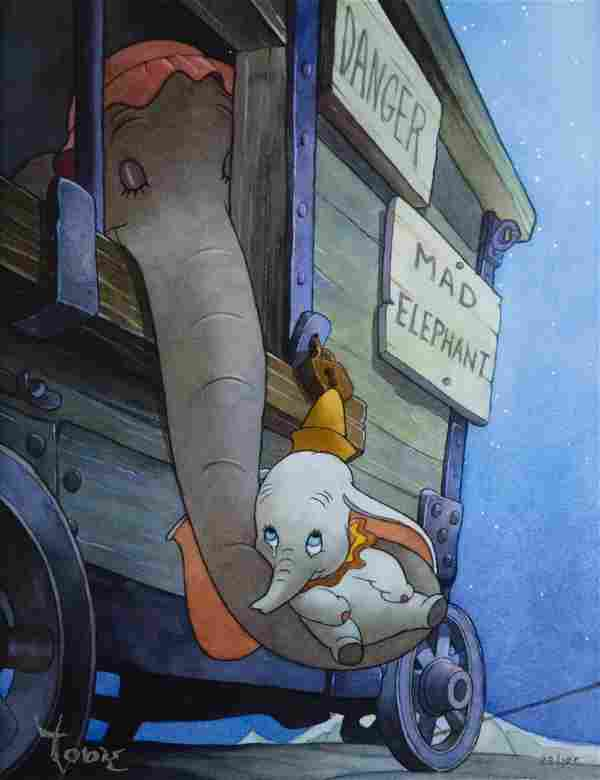 """Dumbo """"Baby Mine"""" Disney Limited Edition Giclee on"""