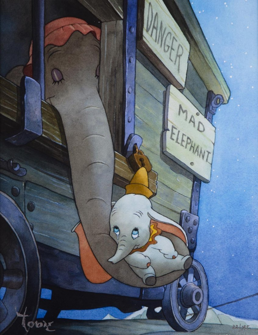 "Dumbo ""Baby Mine"" Disney Limited Edition Giclee on"