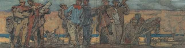 FRANK BRANGWYN (BRITISH, 1867-1956) Study for the