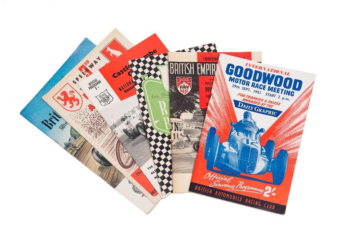 GOODWOOD: Original motor racing programmes: 1951