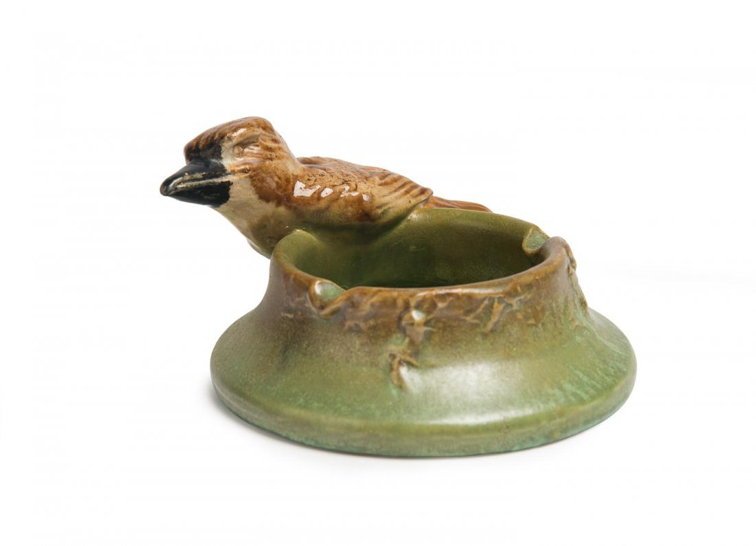 Remued Pottery  A rare glazed earthenware kookaburra