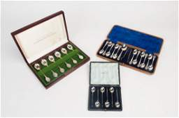 A box set of sterling silver spoons with the Australian