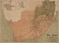 BOER WAR Map: Coloured lithograph supplement titled