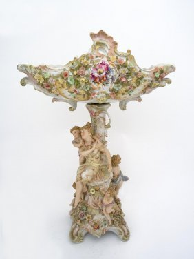 A Sitzendorf Porcelain Centerpiece, The Stem With The