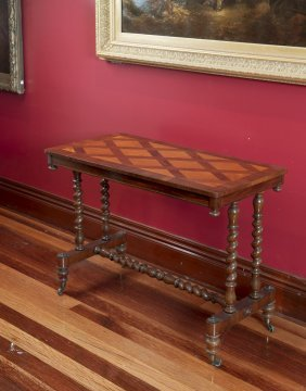 A Victorian Rectangular Rosewood Marquetry Side Table97