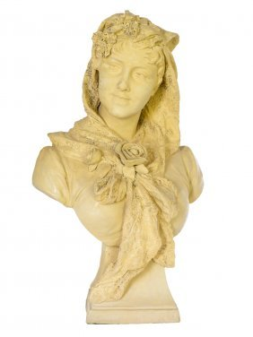 A 19th Century Goldscheider terracotta Bust Of A Lady