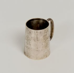 An Edward Vii Sterling Silver Mug By Baker Brothers,