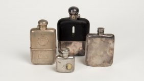 An Edward Vii Sterling Silver Hip Flask By Cohen &