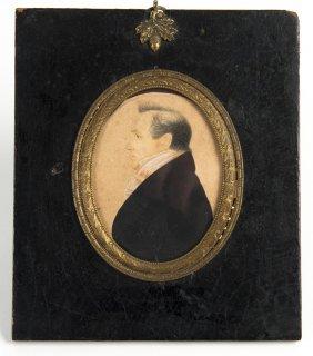 A Georgian Silhouette Of A Gentleman Facing Left