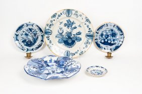 A Collection Of English Delft Blue And White Pottery