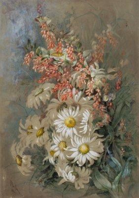 Marian Ellis (ellis) Rowan (1848-1922) Flowerpiece