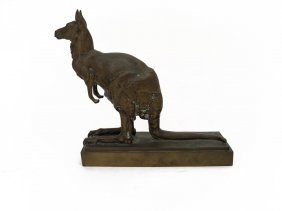 An Austrian Bronze Figure Of A Kangaroo