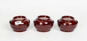 A Set Of Ten Japanese Black And Red Lacquer Bowls And