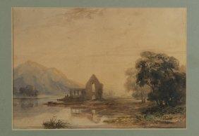 David Cox Landscape With Ruins