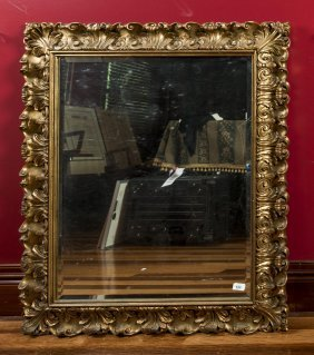 A 19th Century Carved Gilt Wood Rectangular Wall Mirror