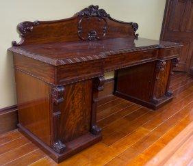 A Large Victorian Mahogany Sideboard