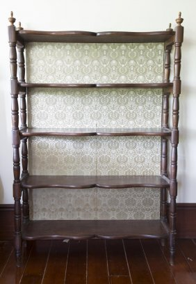 An Edwardian Five Tier Book Shelf