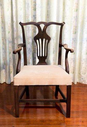 A Georgian Mahogany Armchair