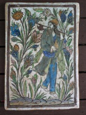 Persian School Deities Suite Of Three Hand Painted