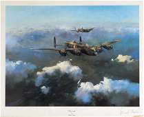 AVIATION Set of 3 Robert Taylor WW2 RAF prints signed