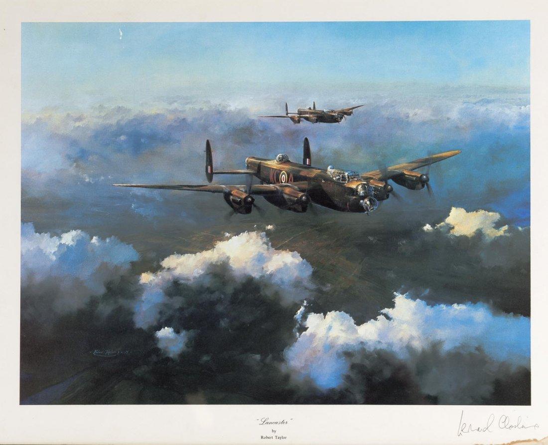 AVIATION: Set of 3 Robert Taylor WW2 RAF prints signed