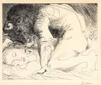 PABLO PICASSO (SPANISH, 1881-1973) Minotaure Caressant