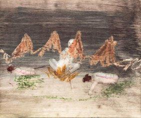Sidney Nolan (1917-1992) Buddha-monk Burning, White