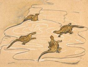Clifton Pugh (1924-1990) Lizards