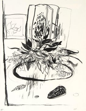 Brett Whiteley (1939-1992) Flowers On The Table 1977