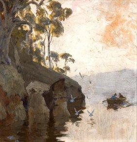 Albert Fullwood (1863-1930) The Fishing Grounds 1924