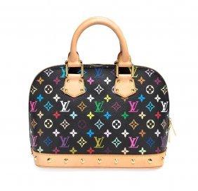 A Black Monogram Multicolour Alma Bag, Louis Vuitton.
