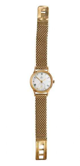A Gentleman's Gold Wristwatch, Omega, Circa Late