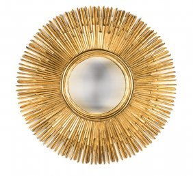 A Very Large Giltwood Sunburst Wall Mirror, Italian