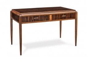A Fine Art Deco Macassar And Acajou Writing Desk