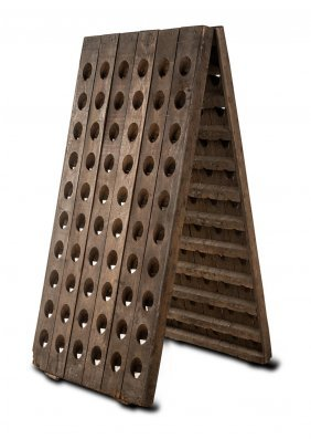 A Veuve Clicquot Oak Riddling Rack French 19th Century