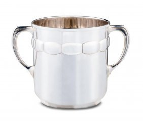 A Large Twin Handled Silver Plated Champagne Cooler
