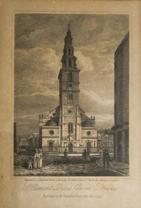 T Higham St Clement Dames Church, Strand