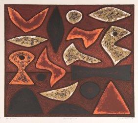 John Coburn (1925-2006)burning Land 1991colour