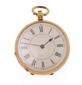 A Lady's Gold Openface Pocket Watch, Circa 1895. 35mm.