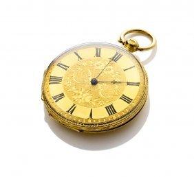 A Lady's Gold Openface Pocket Watch. 36mm. Key Wind.